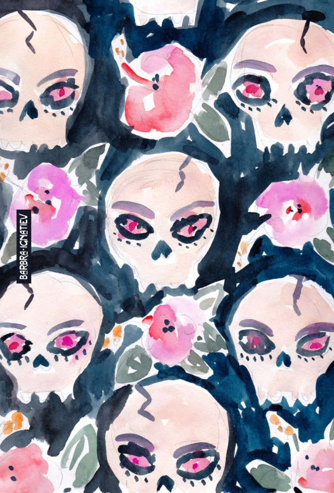 60_SkullsandHibiscus_iPhone