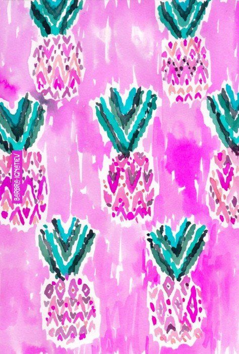 PINK TRIBAL PINEAPPLES
