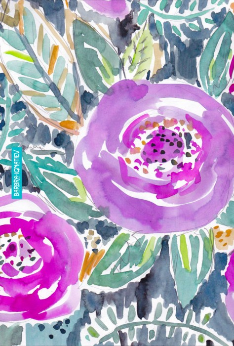 Daily Color #175: Gardens of Bolinas Purple Floral