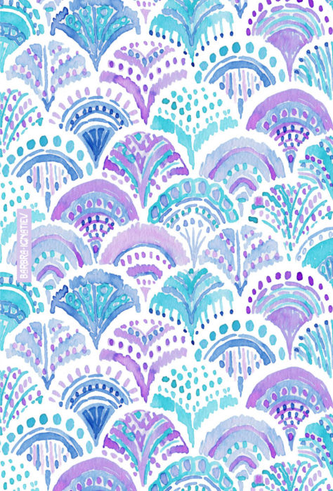 Mystical MERMAID DAYDREAMS Watercolor Scales