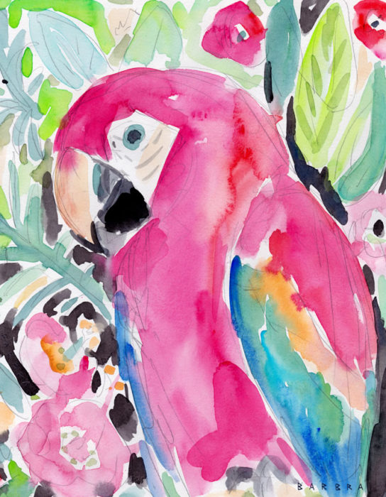 SCARLET THE MACAW