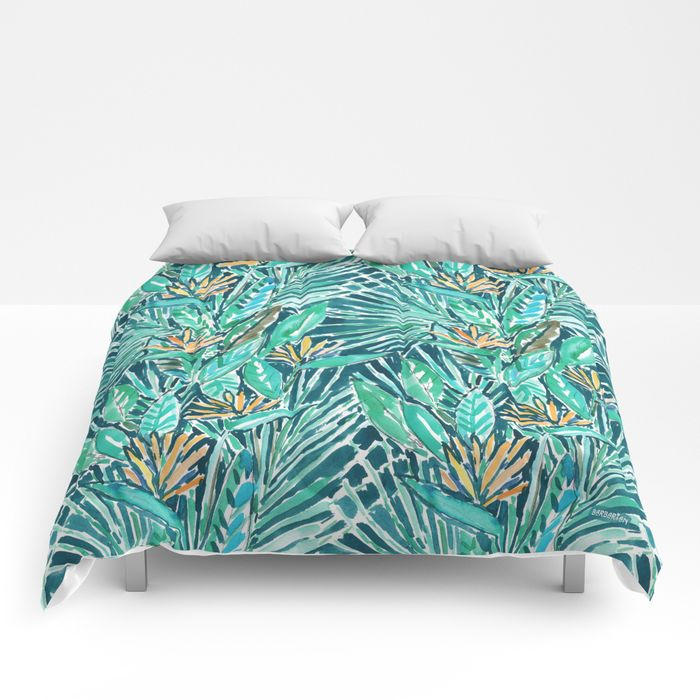 Birds of Paradise Tropical comforter by Barbarian