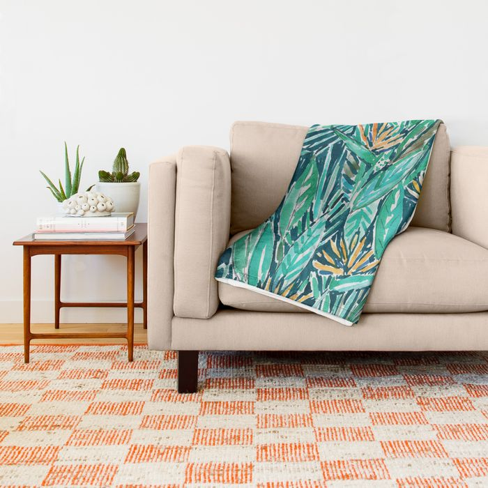 Birds of Paradise Tropical throw blanket by Barbarian