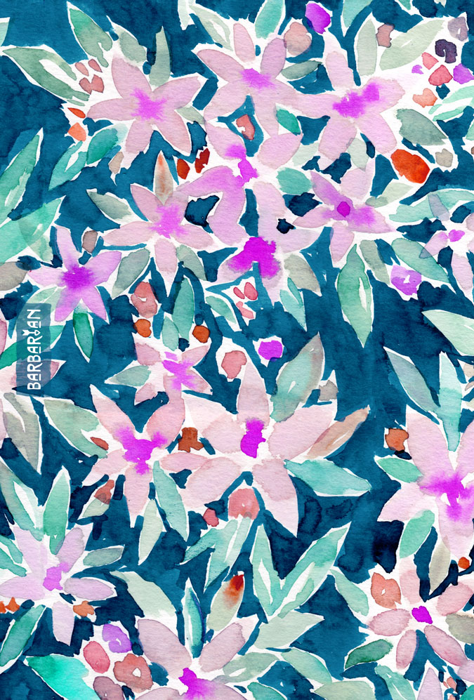 LET GO Tropical Watercolor Floral