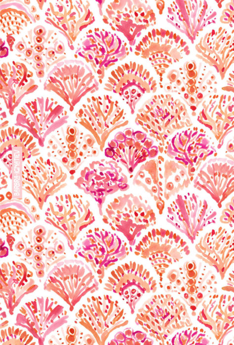 CORAL CAMO Mermaid Fish Scales Pattern