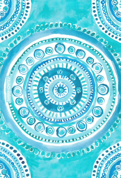 PEARLS OF WISDOM Mermaid Mandala
