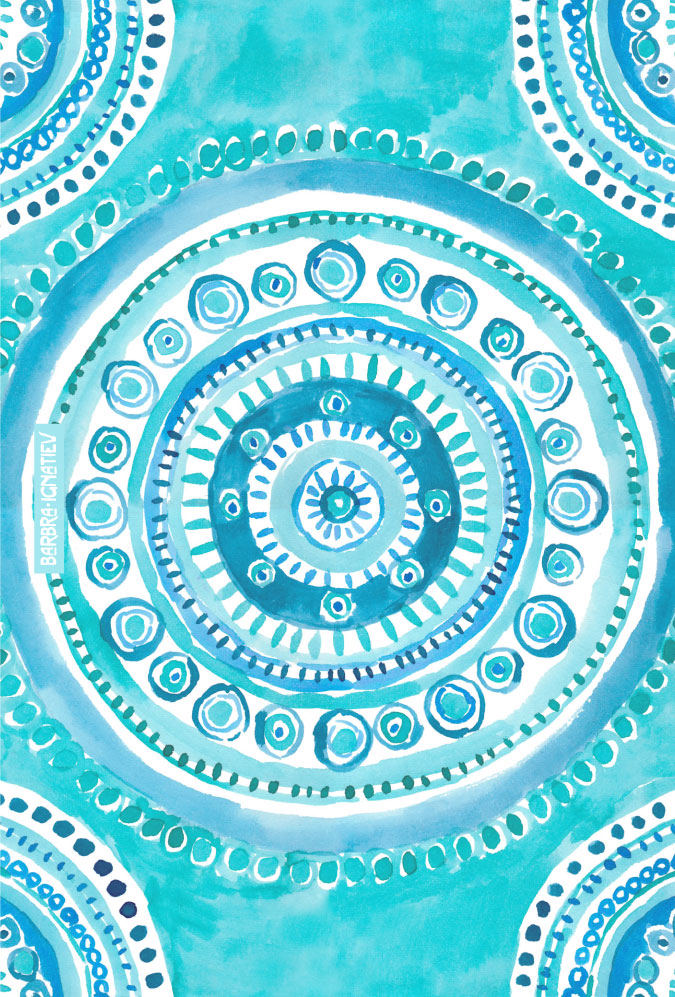 PEARLS OF WISDOM Mermaid Mandala by Barbarian