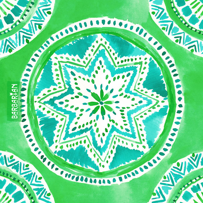 MIGHTY MEDALLION Green Boho Mandala