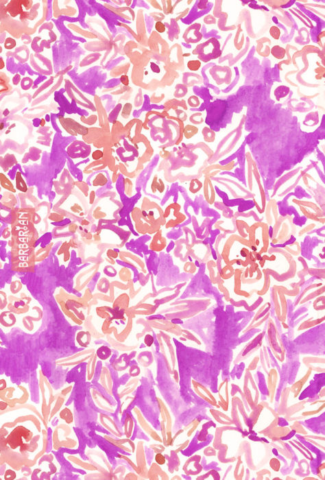 TROPICAL FLAIR Pink Floral