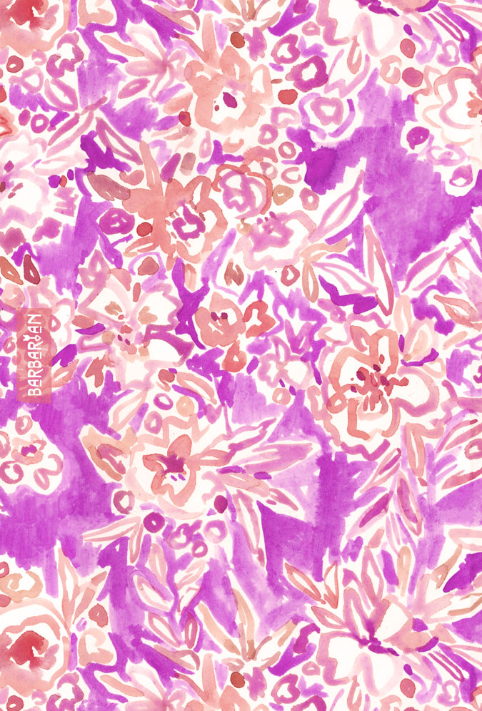 TROPICAL FLAIR Pink Floral by Barbarian