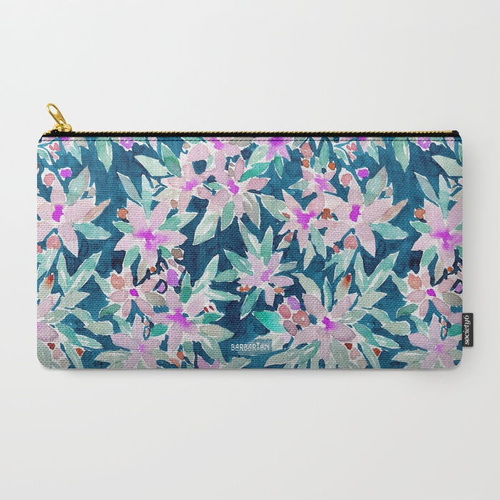 LET GO Tropical Watercolor Floral Pouch by Barbarian
