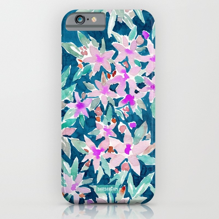 LET GO Tropical Watercolor Floral Phone Case by Barbarian