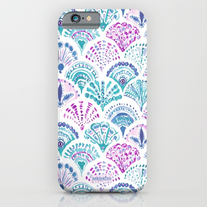 SHELL OUT Boho Mermaid Scales Phone Case by Barbarian
