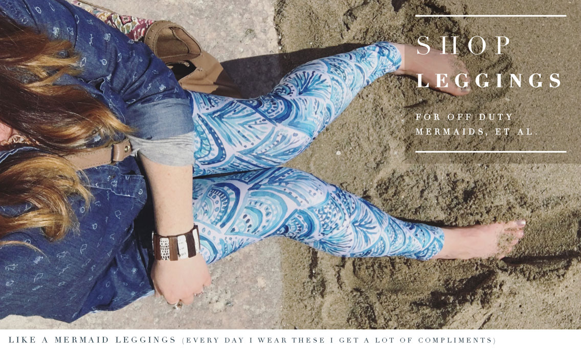 SHOP Barbarian Print Leggings for mermaids, et al.