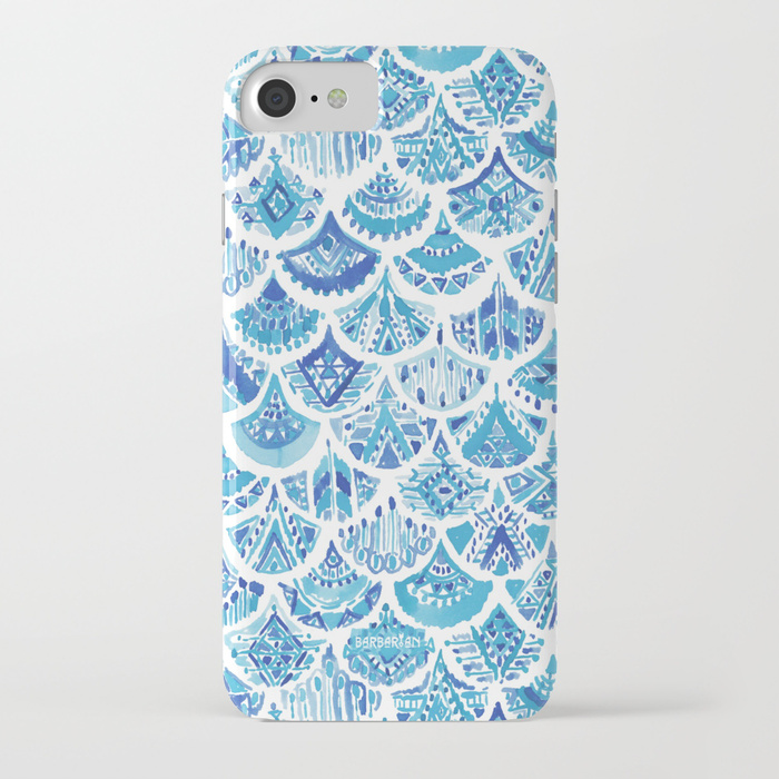 AZTEC MERMAID Tribal Scallop Pattern Phone Case by Barbarian