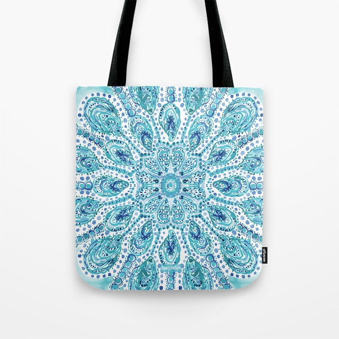 MMMOYSTERS Oyster Mandala Tote Bag by Barbarian