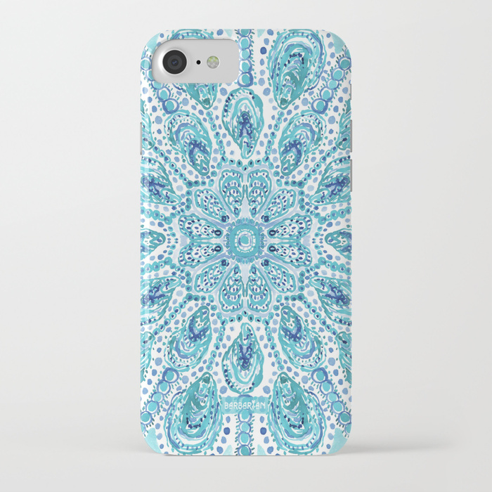 MMMOYSTERS Oyster Mandala Phone Case by Barbarian