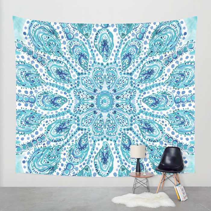 MMMOYSTERS Oyster Mandala Tapestry by Barbarian