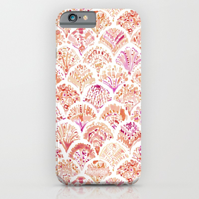 UNDERTOW Coral Mermaid Scales Phone Case by Barbarian