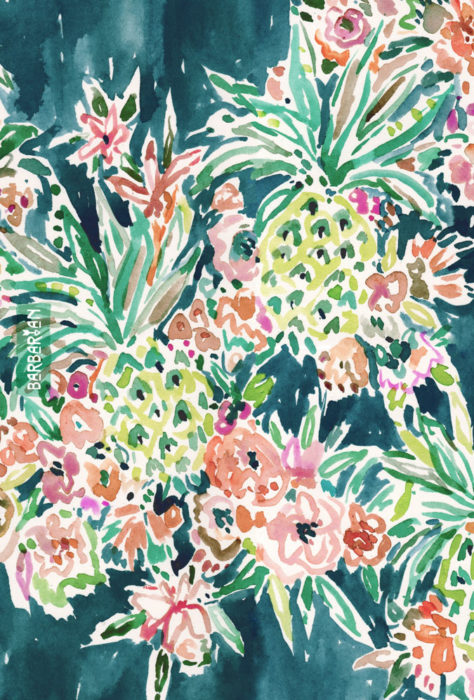 PINEAPPLE PARTY Lush Tropical Boho Floral