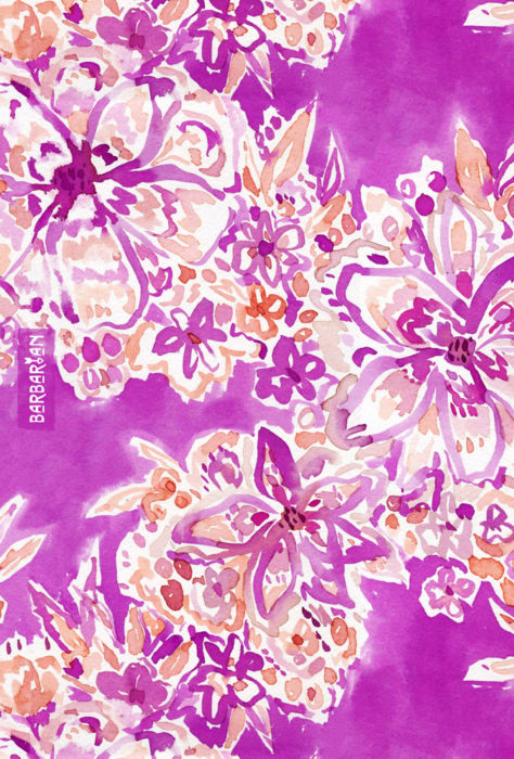 GOOD VIBES Wild Pink Watercolor Floral
