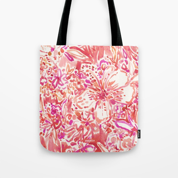 HAWAIIAN PUNCH Red Wild Hibiscus Floral Tote Bag