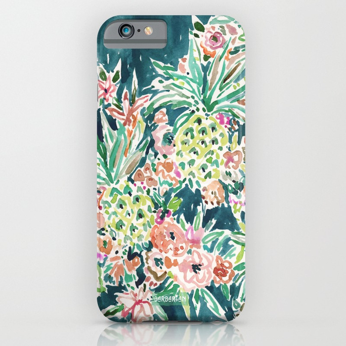 PINEAPPLE PARTY Lush Tropical Boho Floral Phone Case