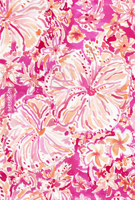 ALOHA STATE Tropical Watercolor Floral