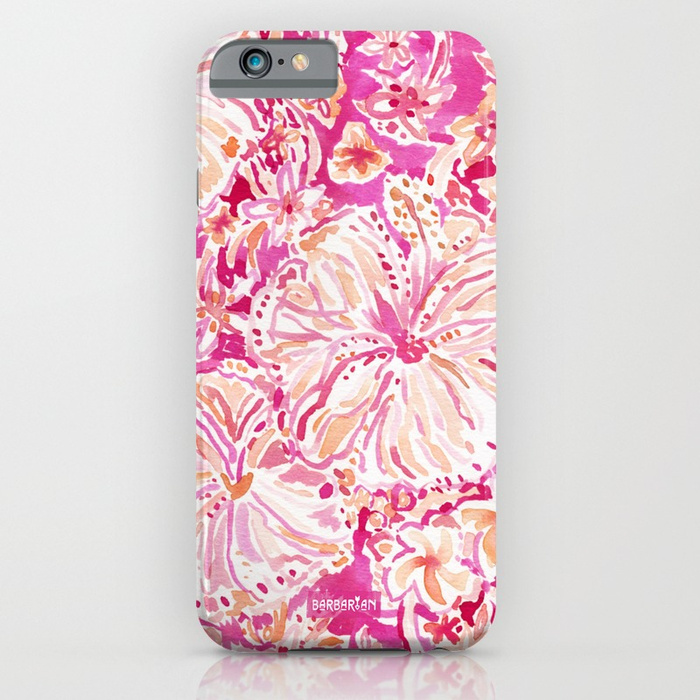 ALOHA STATE Tropical Watercolor Floral Phone Case