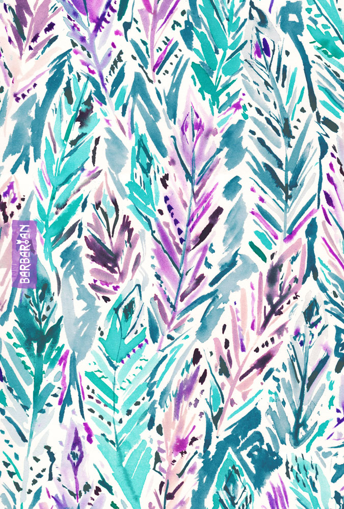 FREE FEELINGS Boho Watercolor Feathers