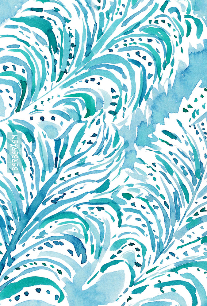 FEATHER FLOW Aqua Watercolor