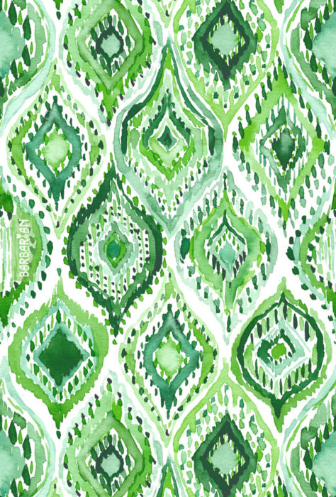 FROM WITHIN Green Moroccan Ogee