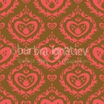 Heart Flame Damask